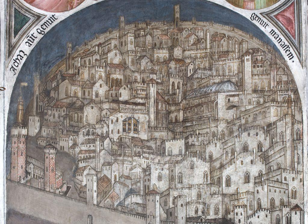 Veduta di Padova del XIV secolo