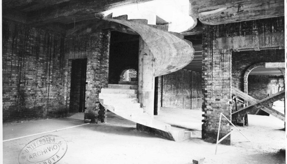 Realizzazione della scala che porta al Museo d'Arte a Palazzo Liviano
