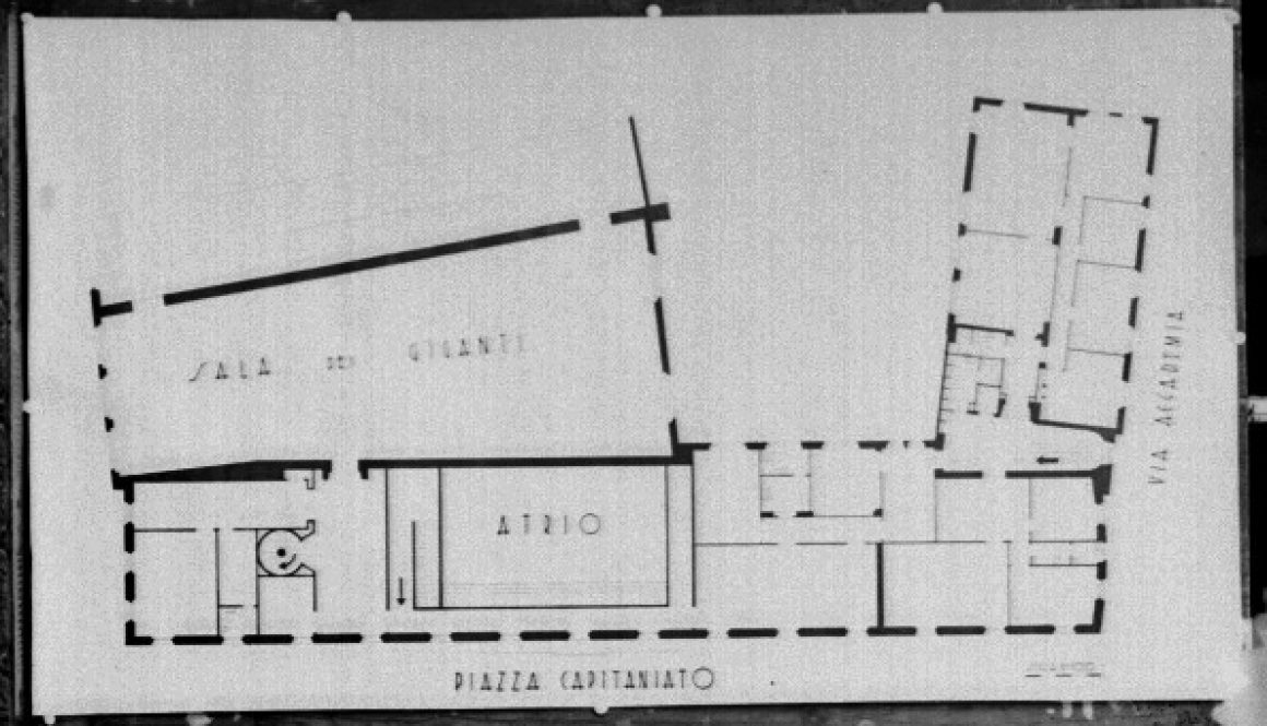 Pianta di progetto di Palazzo Liviano