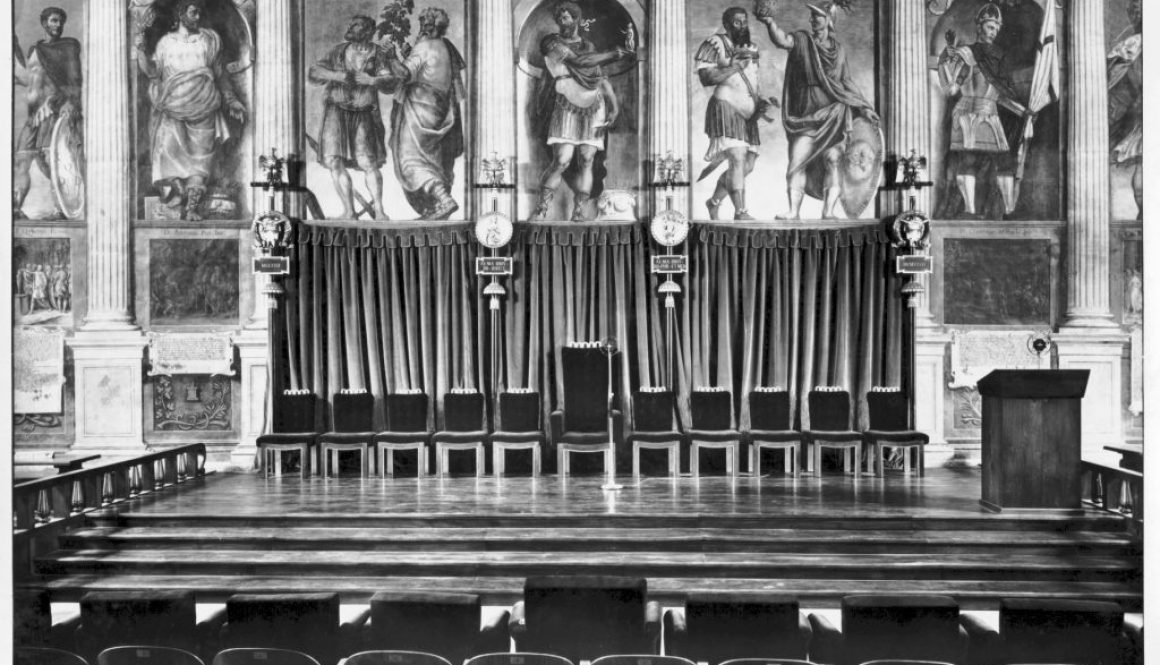 La Sala dei Giganti nel 1939