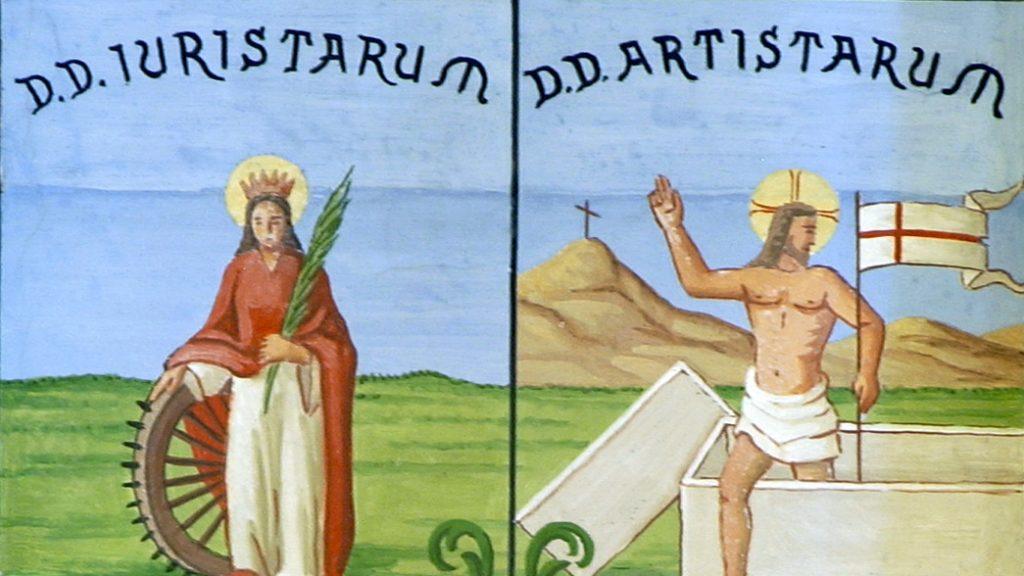 Santa Caterina e il Cristo nel sigillo