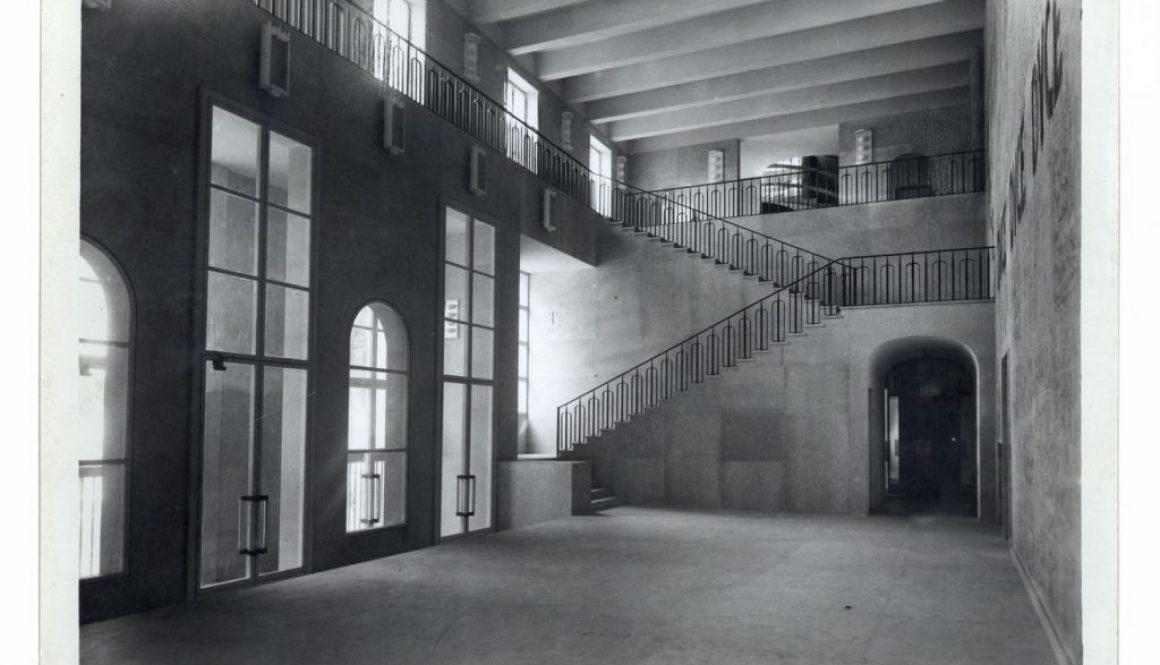 Atrio del Liviano prima dell'affresco di Massimo Campigli