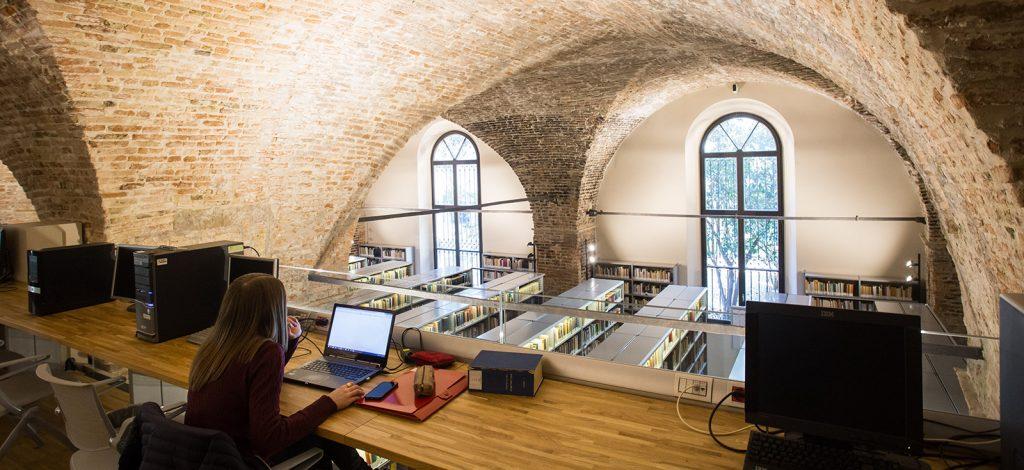 La biblioteca di Palazzo Liviano