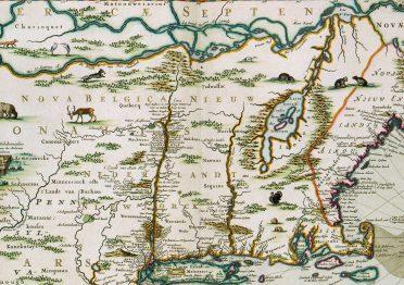 Mappa del Nord America, XVII secolo