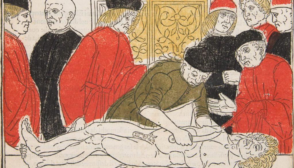 """Dissezione dal """"Fasciculus Medicinae"""", incunabolo, 1493"""