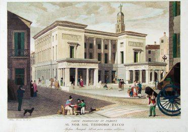 Il Caffè Pedrocchi in una stampa antica
