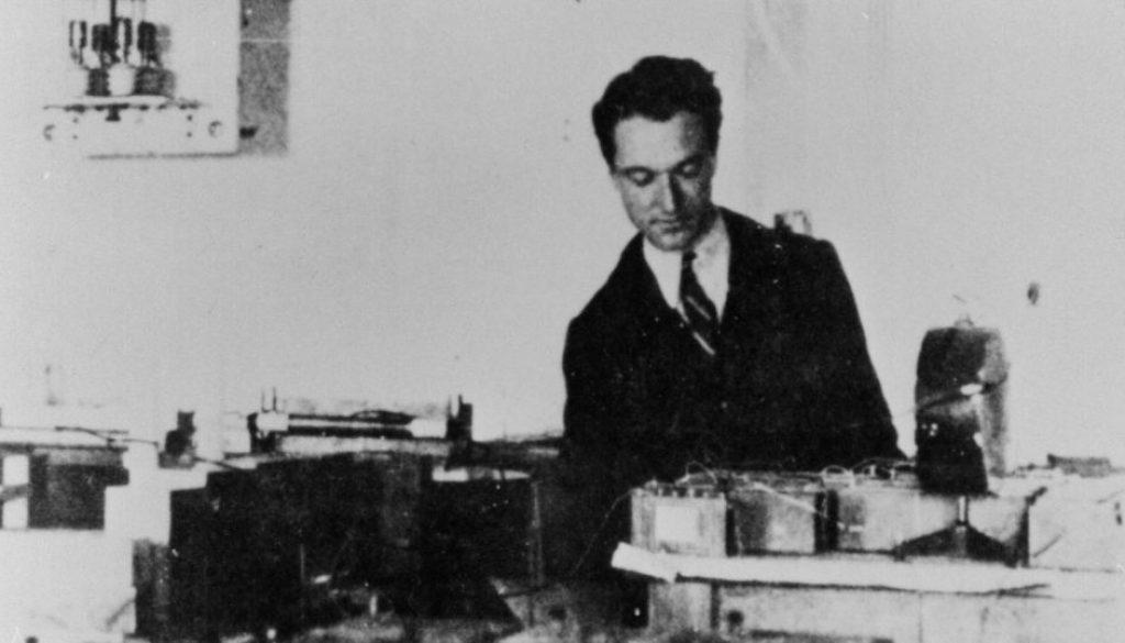 Bruno Rossi nel suo laboratorio