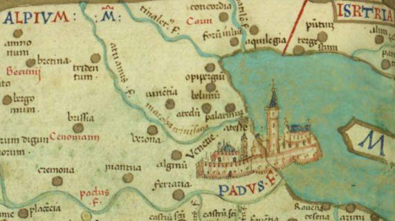 15th century map of the Venetian territories
