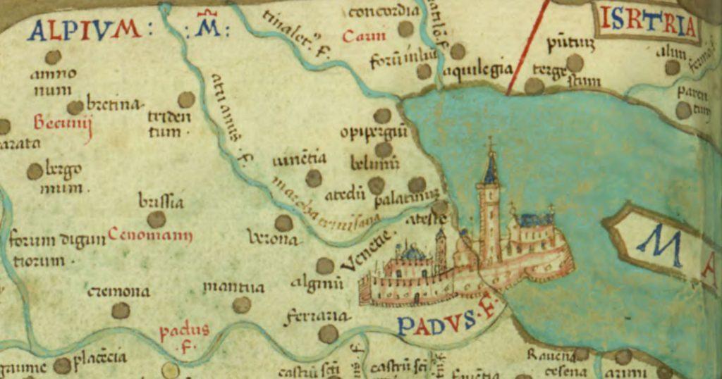 1Mappa quattrocentesca dei territori veneziani