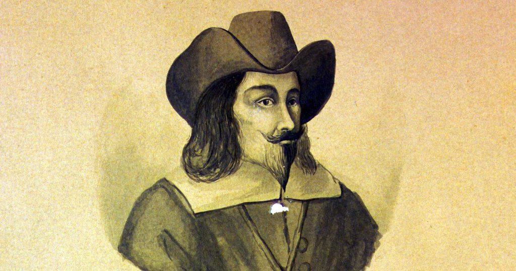 """""""Joannes Vesling. Prof. Bot. Horti. praef. 1638 ad 1649"""", acquarello conservato nella biblioteca dell'Orto botanico dell'Università di Padova"""