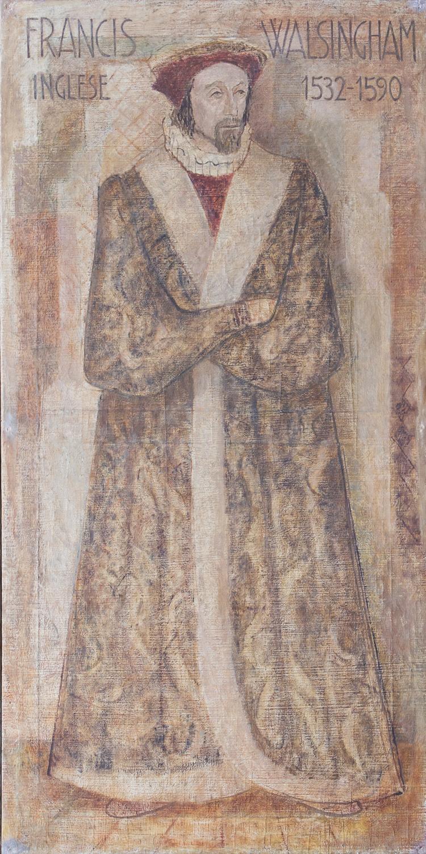 Il restauro della tela di Francis Walsingham è stato sostenuto da C.I.B. Unigas S.p.A.