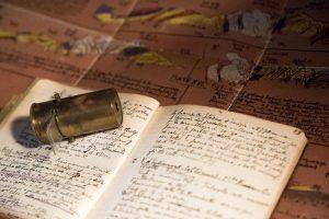 Microscopico tascabile Migard e diario di campagna di Bruno Castiglioni (1898-1945)