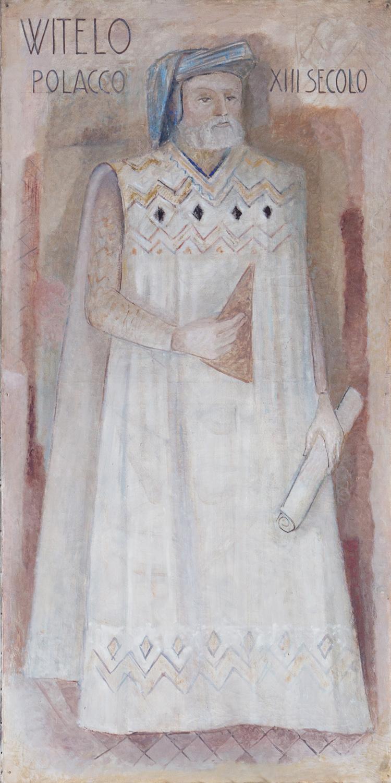Il restauro della tela di Vitello (Witelo) è stato sostenuto da Cappeller Spa.