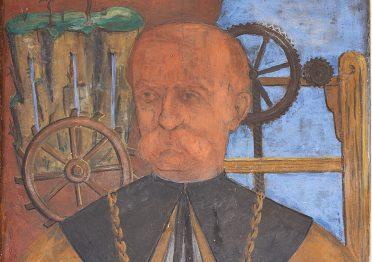Giuseppe Santomaso, ritratto di Domenico Turazza rettore
