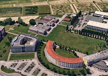 Aerial view of the Agripolis Campus