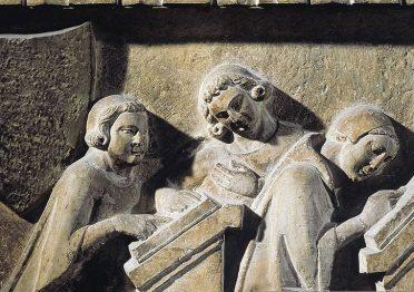 Studenti dell'Università di Bologna (dalla tomba di Giovanni di Bonandrea, 1333)