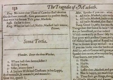 Il first folio di Shakespeare custodito nella Biblioteca Universitaria di Padova