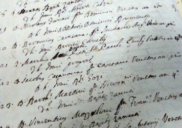29 November 1737: the name of Giacomo Casanova appears on the list of
