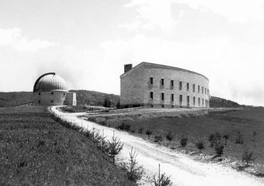 The two buildings of the Asiago Observatory complex
